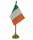Ierland versiering tafelvlag 10 x 15 cm