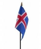 Ijsland vlaggetje polyester