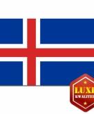Ijslandse vlag goede kwaliteit