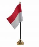 Indonesie versiering tafelvlag 10 x 15 cm