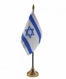 Israel versiering tafelvlag 10 x 15 cm