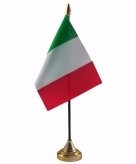 Italie versiering tafelvlag 10 x 15 cm