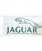 Jaguar vlag wit 150 x 75 cm