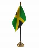 Jamaica versiering tafelvlag 10 x 15 cm