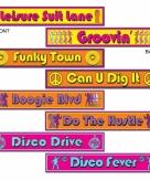 Jaren 70 disco borden set van 4