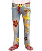 Jeans kinder legging flower power