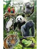 Jungle dieren stickervel met 21 stickers