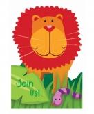 Jungle uitnodigingen met enveloppen