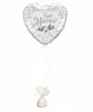 Just married helium ballon inclusief gewicht