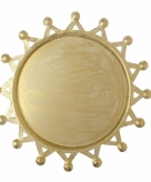 Kaars onderzet bord goudkleurig