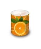 Kaarsen met sinaasappels