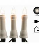 Kaarsen vlam verlichting slinger 15 lampjes