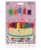 Kaarsjes voor verjaardagstaart queen 4 the day