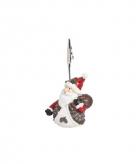 Kaartenhouder kerstman 11 cm type 1