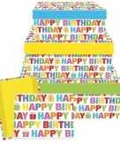 Kado doosjes happy birthday 22 cm