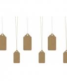 Kado labels bruin 6 stuks