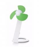 Kantoor ventilator wit groen 22 cm met usb aansluiting