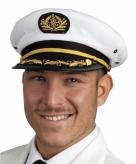 Kapiteinspet wit voor volwassenen