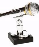 Karaoke winnaars beker prijs award 15 cm