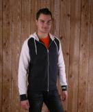 Kariban sweater met rits donker grijs