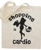 Katoenen boodschappentas cardio shopping