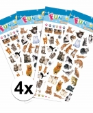 Katten thema stickers pakket