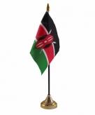 Kenia versiering tafelvlag 10 x 15 cm