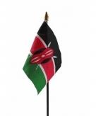 Kenia vlaggetje polyester