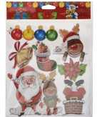 Kerst decoratie stickers 3d rendier kerstman