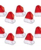 Kerst raamdecoratie kerstmutsen 10x