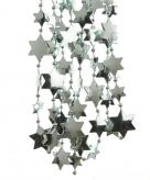 Kerst sterren kralen guirlande mintgroen 270 cm kerstboom versiering decoratie