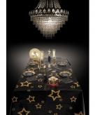 Kerst tafelkleed met gouden sterren 130 x 180 cm