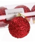 Kerstballen rood 5 cm
