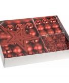 Kerstboomdecoratie 33 delig rood