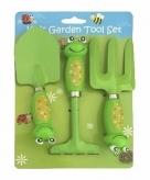Kikker gereedschap set voor in de tuin 3 delig