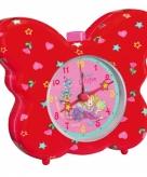 Kinderkamer wekker rode vlinder