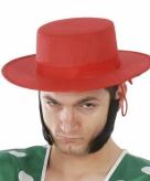 Klassieke spaanse hoed rood voor heren