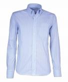 Kleding heren overhemd gestreept lichtblauw 10015771