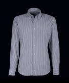 Kleding heren overhemd grijs wit