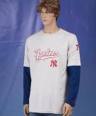 Kleding new york yankees t-shirt lange mouw