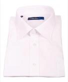 Kleding wit heren overhemd korte mouw