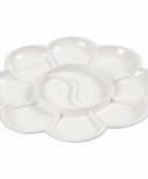 Klein bloemvormig verf palet wit