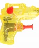 Klein waterpistooltje geel 7 cm