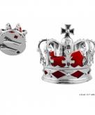 Kleine zilveren kroon 8 cm