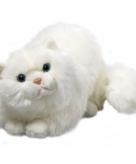 Knuffel perzische witte kat van 30 cm