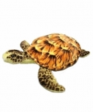 Knuffel zeeschildpad van 34 cm