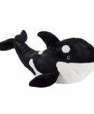 Knuffeldier orka zwart wit 50 cm