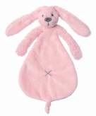 Knuffeldoekje roze konijntje