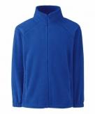 Kobalt blauw polyester fleece vest met rits voor jongens