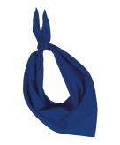 Kobalt blauwe hals zakdoeken bandana style